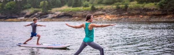 Yoga on Paddleboards Cape LaHave Adventures